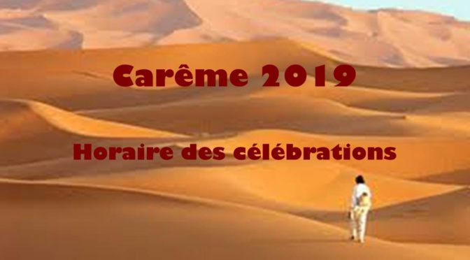 Carême et semaine Sainte 2019
