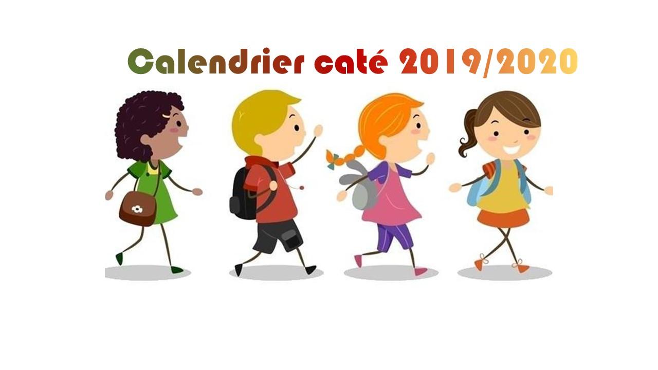 Calendrier caté 2019/2020