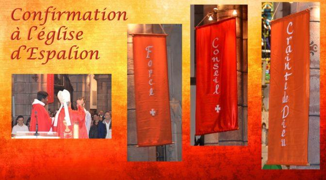 Confirmation à l'église d'Espalion