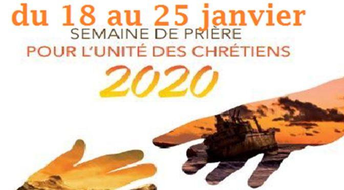 Semaine de l'unité des chrétiens du 18 au 25 janvier