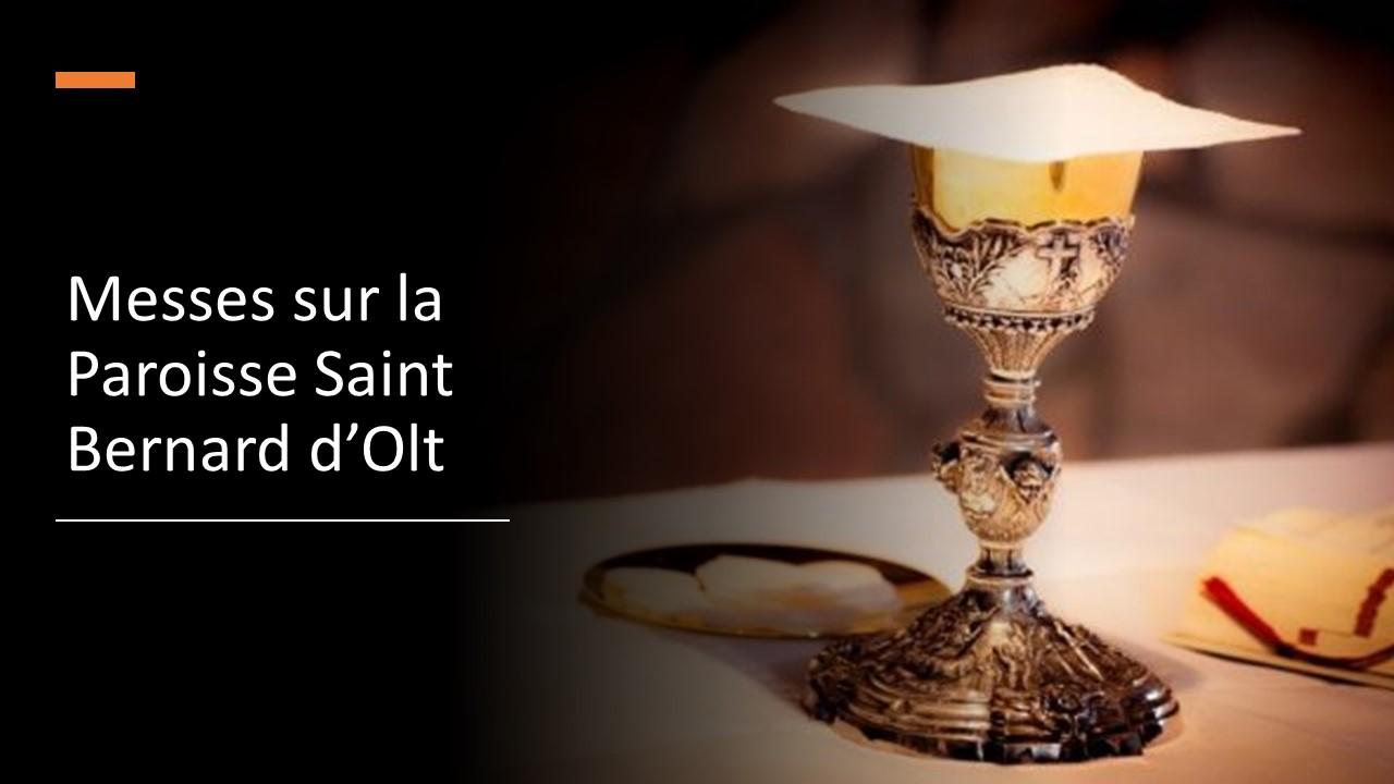Prochaines messes sur la paroisse Saint Bernard d'olt