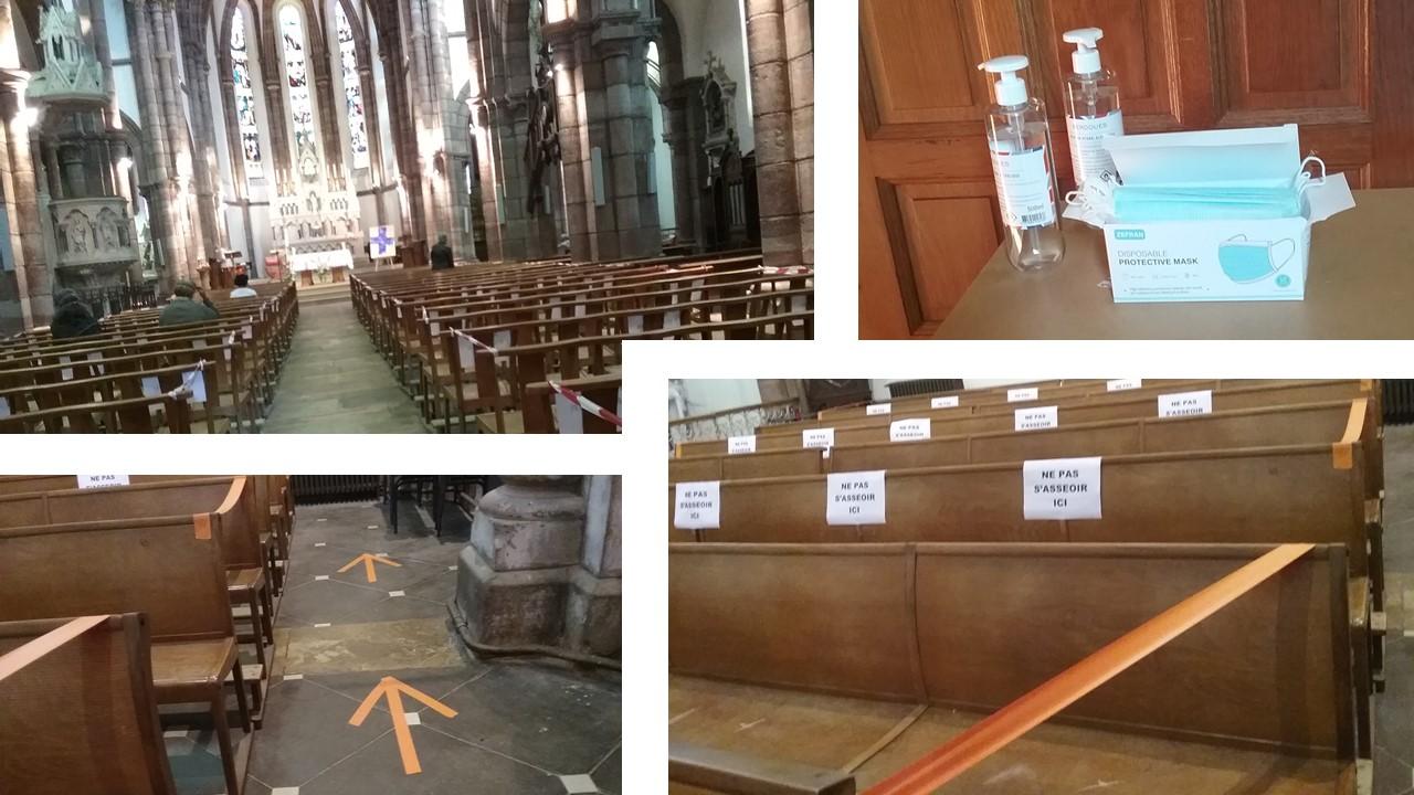 Préparation de l'église