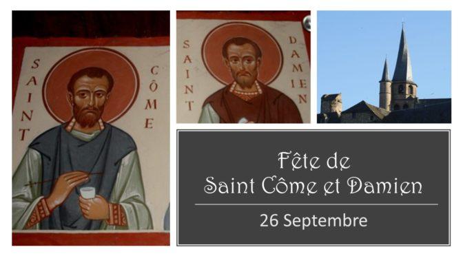 Fête des Saints Côme et Damien 2020