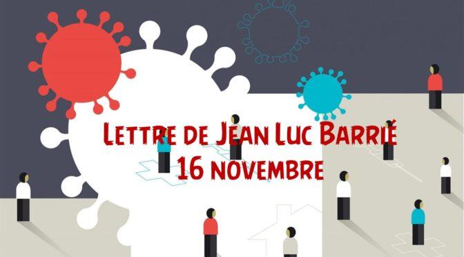 Lettre de Jean Luc Barrié 16/11/2020