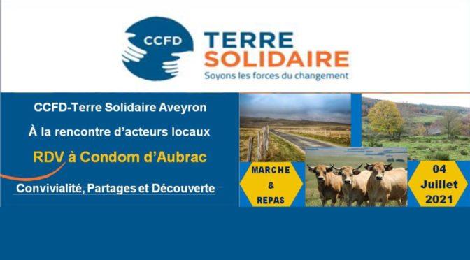 Dimanche 04 juillet 2021 une journée sur l'Aubrac avec le CCFD-Terre solidaire