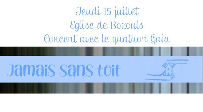 """Un concert au profit de l'association """"Jamais Sans Toit"""""""