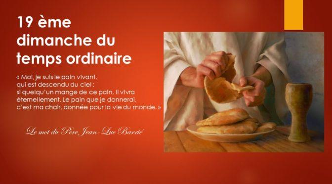 Vivre l'Eucharistie …