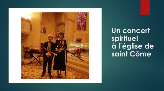 Concert spirituel à l'église de Saint Côme