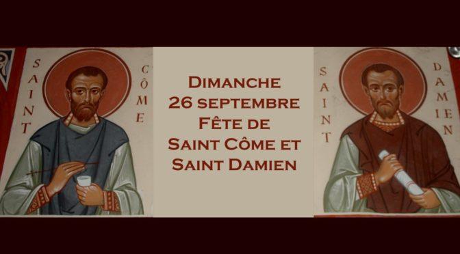 Fête des Saints Côme et Damien 2021