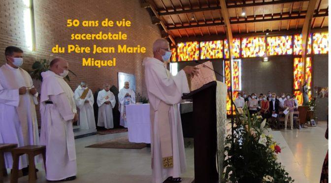 Jubilé du Père Jean Marie Miquel